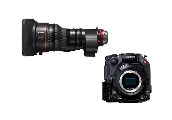 全新可交換式鏡頭電影級 4K 攝影機 EOS C300 Mark III 及 廣角 10 倍電動變焦電影鏡頭 CN10×25 IAS S 靈活搭配強化應對高畫質影片攝製需要