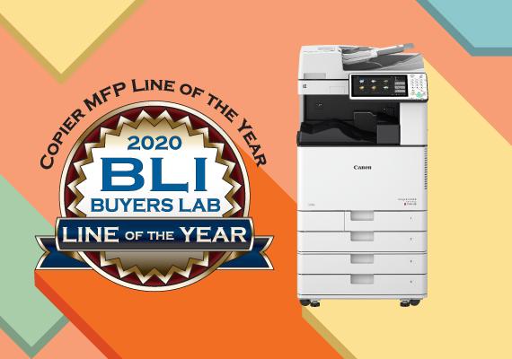 Canon 商用多功能複合機榮獲 2020 BLI 最佳產品線大獎